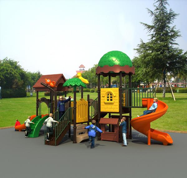 产品名称:fp-039-幼儿园户外游戏滑梯